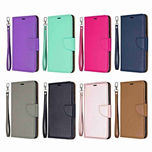 cheap Other Phone Case-Case For LG LG Stylo 5 Wallet / Shockproof / with Stand Full Body Cases Solid Colored Hard PU Leather