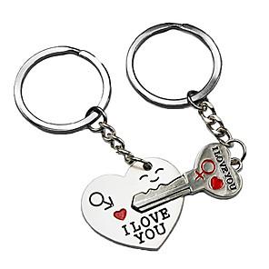 ieftine Pandative Auto & Ornamente-lumea mândrie cheie pentru inima mea drăguț tânăr keychain dragoste keychain inel cheie