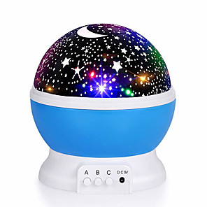 cheap Projector Lights-Baby Night Light Projector for Bedroom Star Light Projector Nebula Projector 360 Degree Rotation 4 LED Bulbs 9 Light Color Changing USB Unique Gifts 5V