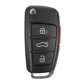 cheap Car Pendants & Ornaments-New 3 Buttons Remote Key Fob Case Uncut Blade For Audi A6 A4 A2 A8 TT Q7