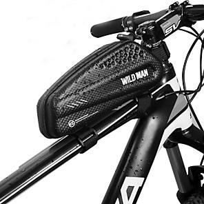 cheap Bike Frame Bags-1 L Bike Frame Bag Top Tube Waterproof Portable Waterproof Zipper Bike Bag PU Leather EVA Bicycle Bag Cycle Bag Cycling Bike / Bicycle