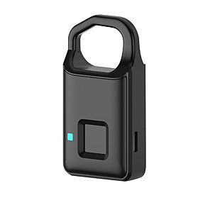 cheap Fingerprint Padlock-Smart mini padlock travel travel convenient luggage security anti-lost anti-stealing touch fingerprint lock