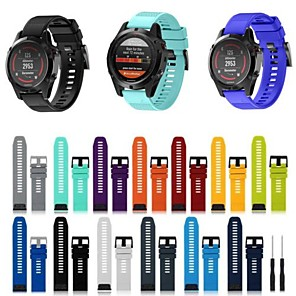 cheap Smartwatch Bands-Watch Band for Fenix 5 Garmin Sport Band Silicone Wrist Strap