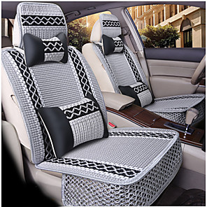cheap Car Headrests&Waist Cushions-Car Seat Covers Headrest & Waist Cushion Kits Beige / Gray / Coffee Other Leather Type Sports For universal