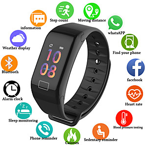 cheap Smart Wristbands-UM1 Smart Wristband BT Fitness Tracker Support Notify/ Blood Pressure Measurement Sports Smart watch for Samsung/ Iphone/ Android Phones