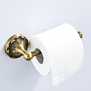 cheap Toothbrush Holder-Toilet Paper Holder New Design Antique / Country Brass 1pc - Bathroom / Hotel bath Wall Mounted