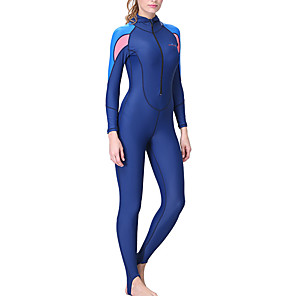 cheap Wetsuits, Diving Suits & Rash Guard Shirts-Dive&Sail Women's Rash Guard Dive Skin Suit Diving Suit SPF50 UV Sun Protection Quick Dry Full Body Front Zip - Diving Snorkeling