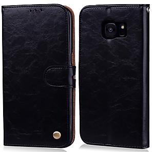 رخيصةأون إكسسوارات سامسونج-غطاء من أجل Samsung Galaxy S7 edge / S7 حامل البطاقات / قلب غطاء كامل للجسم لون سادة قاسي جلد PU