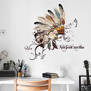 cheap Wall Stickers-Floral / Botanical Wall Stickers Plane Wall Stickers Decorative Wall Stickers, PVC Home Decoration Wall Decal Wall Decoration 1pc / Removable