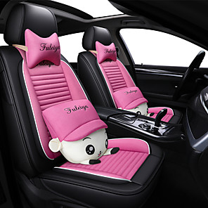 cheap Car Seat Covers-Car seat cover Cute cartoon cool ice silk full surrounded car seat cushion for universal /five seats