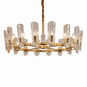 cheap Candle-Style Design-16 Bulbs ZHISHU 100 cm Crystal / New Design Chandelier Crystal Crystal / Empire Electroplated Artistic / Chic & Modern 110-120V / 220-240V