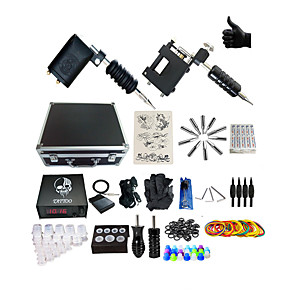 cheap Tattoo Machines-BaseKey Professional Tattoo Kit Tattoo Machine - 2 pcs Tattoo Machines, Professional Alloy 20 W Analog power supply 2 rotary machine liner & shader / Case Included