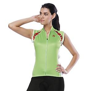 cheap Cycling Jerseys-ILPALADINO Women's Sleeveless Cycling Jersey Green Bike Jersey Top Road Bike Cycling UV Resistant Reflective Strips Back Pocket Sports Clothing Apparel