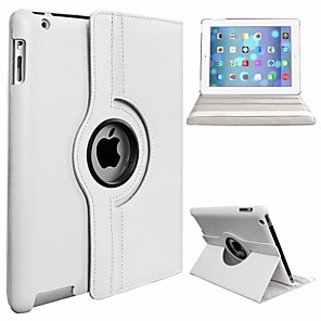 cheap iPad case-Case For Apple iPad (2017) / iPad Pro 9.7 360° Rotation / Dustproof / with Stand Full Body Cases Solid Colored Hard PU Leather / PC for iPad (2017) / iPad Pro 9.7''