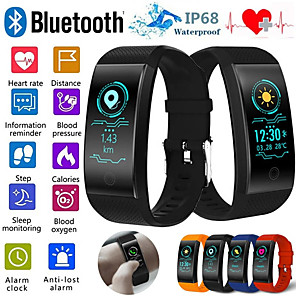 cheap Smartwatches-QW18 Smart Bracelet Heart Rate Monitor IP68 Waterproof Color Screen Fitness Tracker Band Watch Outdoor Sports Wristband