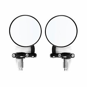 cheap Rear View Monitor-7mm Motorcycle Mirrors 7/8inch Handle Bar Mount Spherical
