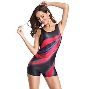 cheap Wetsuits, Diving Suits & Rash Guard Shirts-PHINIKISS Women's One Piece Swimsuit Padded Bodysuit Swimwear Yan pink Blue Lightweight Moisture Wearable Swimming Summer