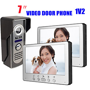 cheap Video Door Phone Systems-815M12 Ultra-thin 7-inch wired video doorbell HD villa video intercom outdoor unit night vision rain unlock function