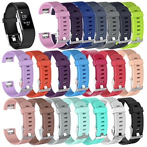 cheap iPhone Cases-Watch Band for Fitbit Charge 2 Fitbit Sport Band / Classic Buckle Silicone Wrist Strap