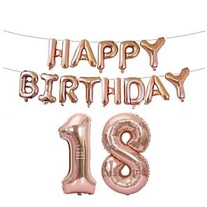 cheap Balloons-Holiday Decorations Holidays & Greeting Birthday Novelty Gold / Silver / Pink 1pc