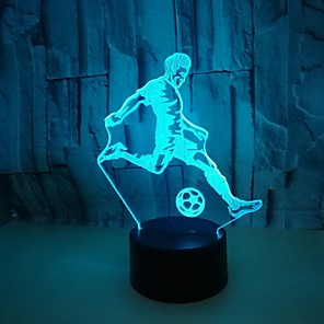 cheap 3D Night Lights-1Pc Usb Power Abstract Art 3D Lights Colorful Touch Gradient Vision Night Lights Colorful 3D Acrylic Table Lamp