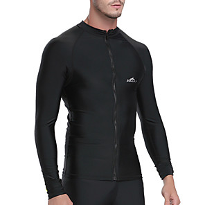 cheap Wetsuits, Diving Suits & Rash Guard Shirts-SBART Men's Rash Guard Spandex SPF50 UV Sun Protection Breathable Long Sleeve Diving Fashion Spring Summer / Quick Dry / Anatomic Design / Stretchy / Quick Dry