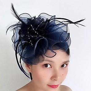 povoljno Šeširi i fascinatori-Til / Perje Kosa za kosu s Perje / Drapirano padajuće 1 komad Vjenčanje / Special Occasion Glava