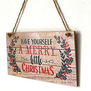 cheap Christmas Decorations-Christmas Holiday Wooden Mini Novelty Christmas Decoration