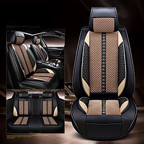 cheap Car Headrests&Waist Cushions-Car Seat Covers Headrest & Waist Cushion Kits White / Red / Blue Leather Sports For universal