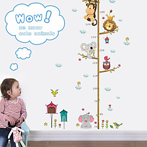 cheap Wall Stickers-Animals Wall Stickers Animal Wall Stickers Height Stickers, PVC Home Decoration Wall Decal Wall Decoration 1pc / Removable