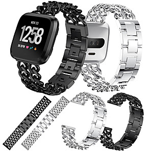 cheap Smartwatch Bands-Watch Band for Fitbit Versa / Fitbit Versa Lite Fitbit Sport Band Stainless Steel Wrist Strap