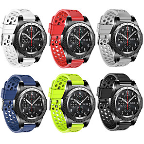 cheap Smartwatch Bands-Watch Band for Gear S3 Frontier / Gear S3 Classic / Samsung Galaxy Watch 46 Samsung Galaxy Sport Band Silicone Wrist Strap