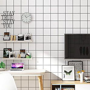 cheap Wall Stickers-Wallpaper Nonwoven Wall Covering - Adhesive required Geometric