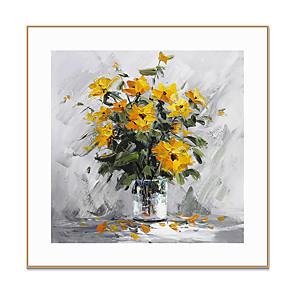 cheap Framed Arts-Framed Art Print Framed Canvas Prints - Floral / Botanical PS Oil Painting Wall Art