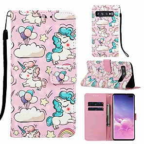 cheap Dog Clothes-Case For Samsung Galaxy S8 Plus / S9 Plus Pattern / Flip / with Stand Full Body Cases Animal / Cartoon Hard PU Leather for Galaxy S10 / Galaxy S10 Plus / Galaxy S10 E
