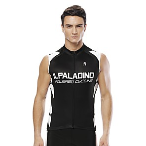 cheap Cycling Jerseys-ILPALADINO Men's Sleeveless Cycling Jersey Black Geometic Bike Jersey Top Road Bike Cycling UV Resistant Reflective Strips Back Pocket Sports Clothing Apparel