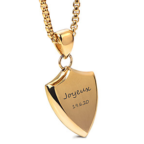 cheap Engraved Bracelets-Personalized Customized Necklace Name Necklace Stainless Steel Classic Name Engraved Gift Promise Festival 1pcs Gold Silver / Laser Engraving