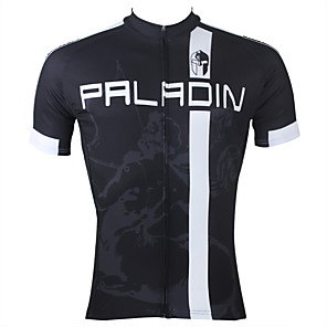 cheap Cycling Jerseys-ILPALADINO Men's Short Sleeve Cycling Jersey Black Stripes Bike Jersey Top Mountain Bike MTB Road Bike Cycling Breathable Quick Dry Ultraviolet Resistant Sports Clothing Apparel