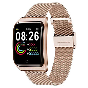 cheap Smartwatches-F9 Smartwatch Stainless Steel BT Fitness Tracker Support Notify & Heart Rate Monitor Compatible Apple/Samsung/Android Phones
