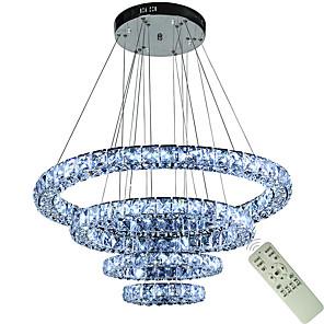 cheap Classical-1-Light 80 cm Creative / Adjustable / LED Chandelier Metal Circle / Geometrical / Novelty Electroplated LED / Chic & Modern 110-120V / 220-240V