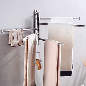 cheap Towel Bars-Creative Towel Bar  Fun & Whimsical Stainless steel 2pc - Bathroom / Hotel bath Wall Mounted