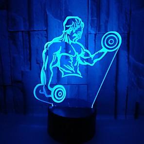 cheap 3D Night Lights-1pc 3D Nightlight RGB USB Color-Changing / with USB Port <5 V