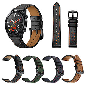cheap Smartwatch Bands-Watch Band for Huawei Watch GT / Huawei Watch 2 Pro Huawei Sport Band Genuine Leather Wrist Strap