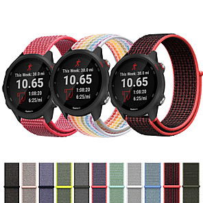 cheap iPhone Cases-Nylon Loop Wristband Wrist Strap Watch band For Garmin Vivoactive 3 / Forerunner 245M / Forerunner 645 / Vivomove HR  Smart Watch