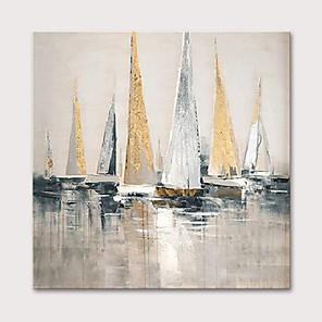 preiswerte Ölgemälde-Hang-Ölgemälde Handgemalte - Landschaft Abstrakte Landschaft Modern Ohne Innenrahmen