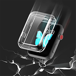 cheap Smartwatch Bands-Transparent TPU  for Apple Watch Series 3 2 1 38MM 42MM 360 Full Clear Screen Protector Case for iWatch 4 44MM 40MM
