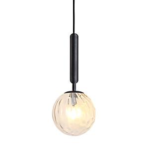 cheap Pendant Lights-1-Light 15 cm Pendant Light Metal Glass Globe Electroplated Modern 110-120V / 220-240V