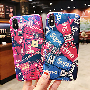 cheap iPhone Cases-Case For Apple iPhone XR / iPhone XS Max Pattern / Frosted Back Cover Word / Phrase Hard PC for iPhone X XS 8 8PLUS 7 7PLUS 6 6S 6PLUS 6S PLUS