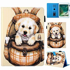 cheap iPad case-Case For Apple iPad mini 5/iPad New Air(2019) Auto Sleep/Wake Up/Magnetic/Flip Full Body Case Cartoon / Dog PU Leather for iPad Pro 9.7''/iPad (2017)/(2018)/Pro 10.5/Air 2/Air/iPad 2/3/4/Mini 1/2/3/4