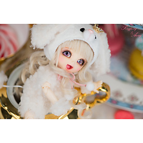 cheap Reborn Doll-OuenElfs 6 inch Girl Doll Ball-joined Doll / BJD Blythe Doll Baby Girl Cute Exquisite High-Temperature Resistant Fibre Wigs Full Body Silicone Lati Yellow Haru with Clothes and Accessories for Girls